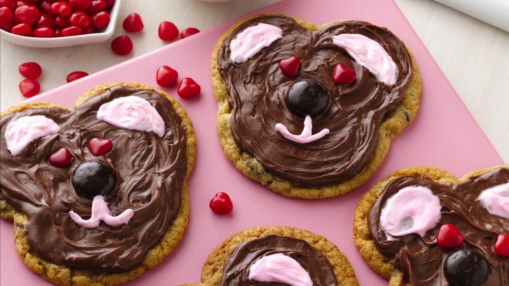 Valentine Teddy Bear Cookies