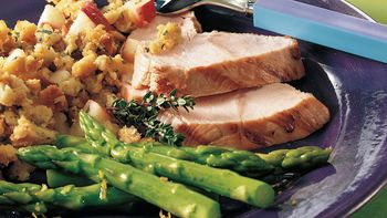 Grilled Turkey Tenderloin with Stuffing