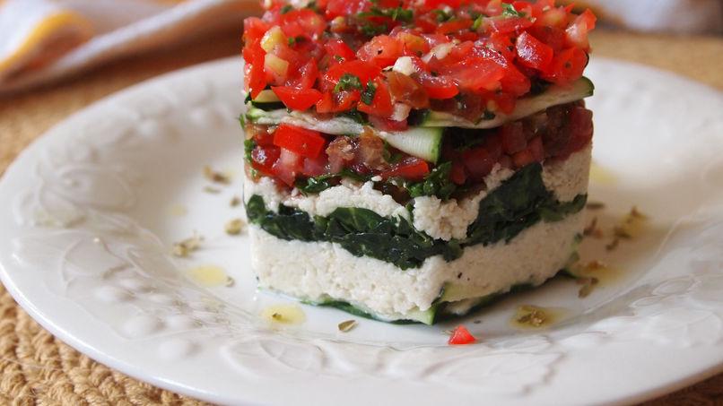 Lasaña Vegetariana Cruda