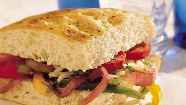 Veggie Focaccia Sandwiches