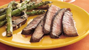 Grilled Balsamic- and Roasted Garlic-Marinated Steak