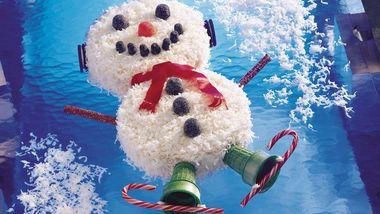 Snowman Coconut Cake