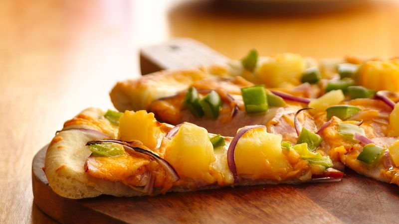 Canadian Bacon and Pineapple Pizza