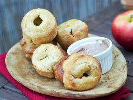 Apple Cinnamon Popovers with Brown Sugar Butter