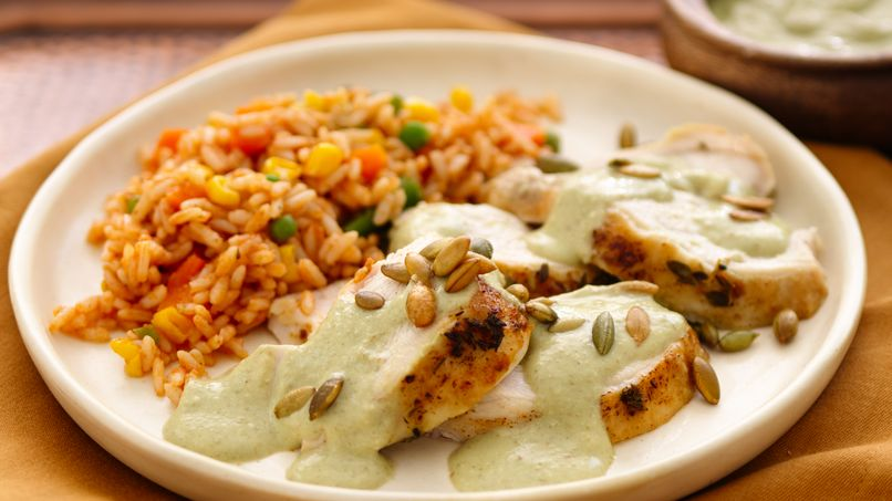 Turkey Breast in Mole Verde Sauce