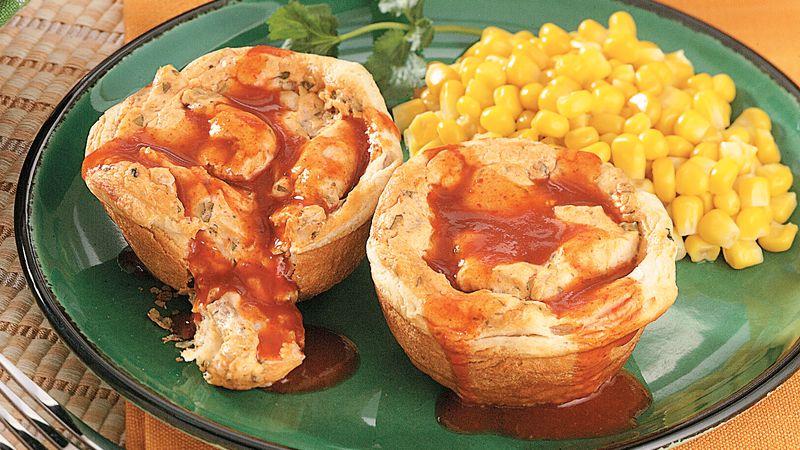 Creamy Chicken Enchilada Pot Pies