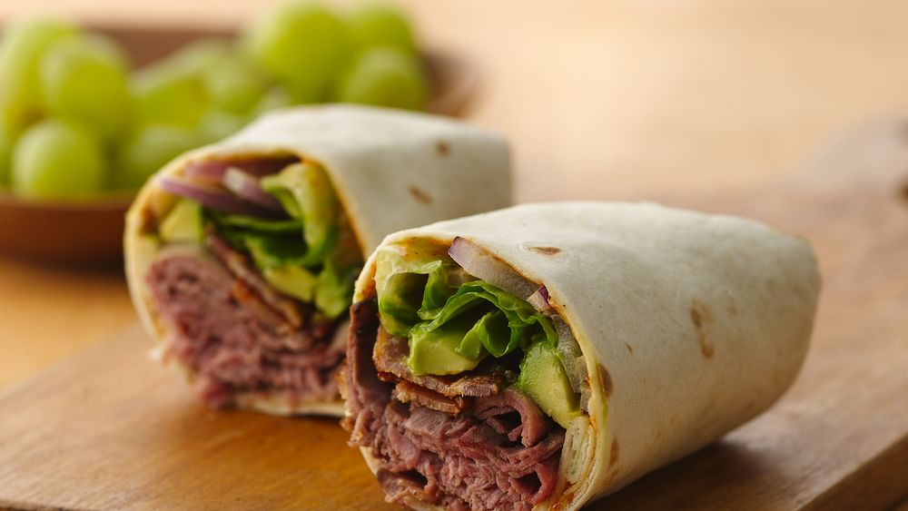 Roast Beef and Bacon Wrap with Spicy Chili Lime Mayo