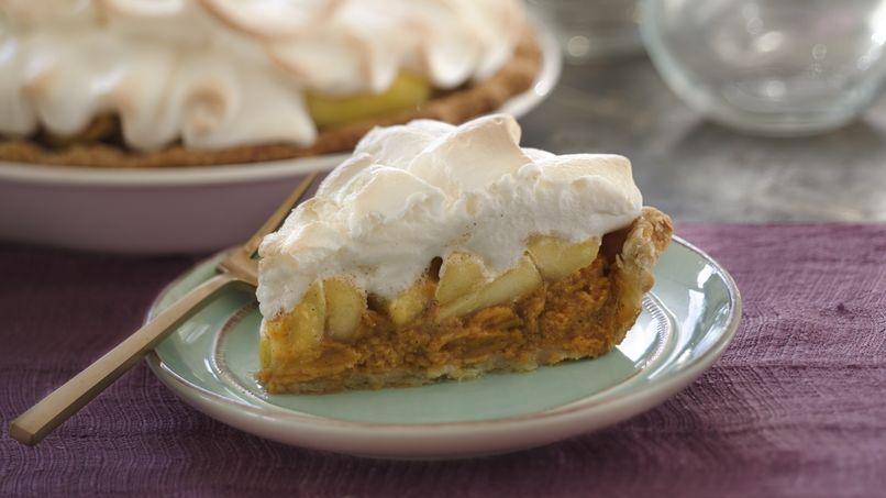 Sweet Potato, Apple and Marshmallow Meringue Pie