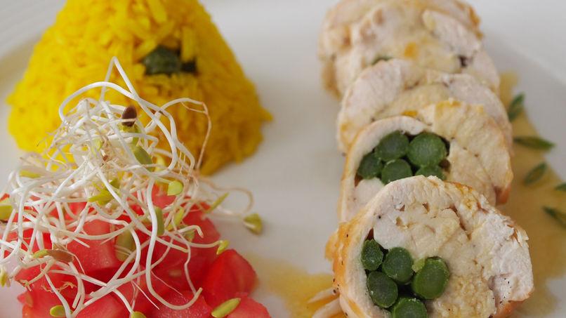Asparagus Chicken Rolls