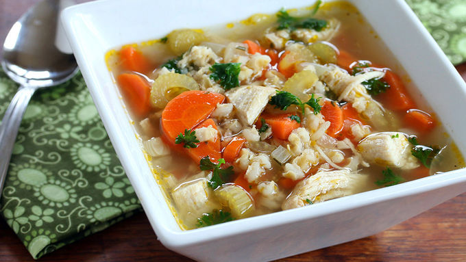 Rosemary Chicken Barley Soup