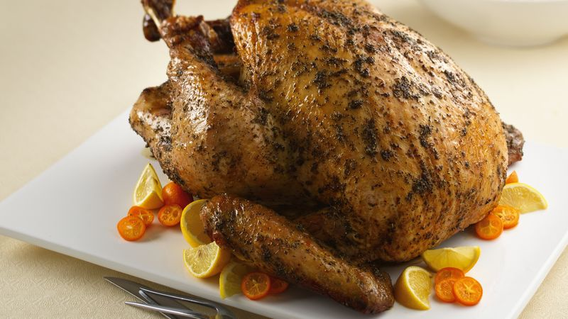 Sage- and Oregano-Rubbed Turkey with Honey-Lemon Glaze