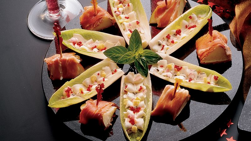Caviar And Cream Cheese Filled Endive