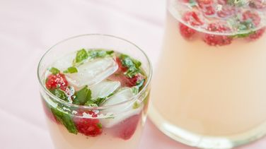 Elderberry, Raspberry and Mint Mocktail