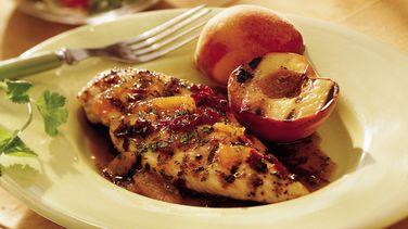 Pollo Asado con Glaseado de Chipotle y Durazno