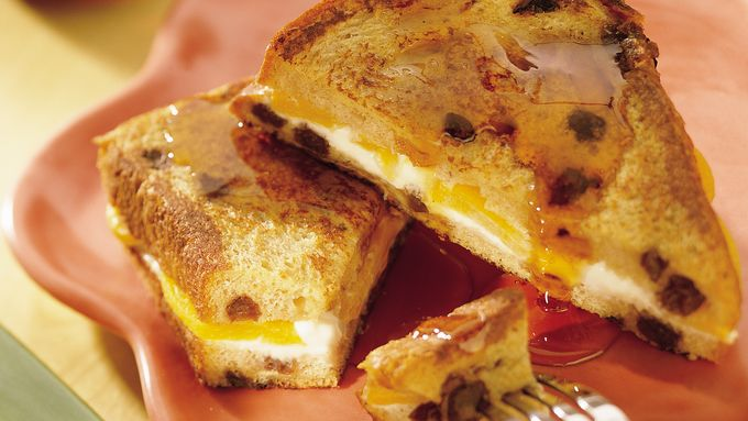 Peach-Stuffed Oven French Toast recipe - from Tablespoon!