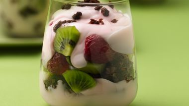 Chocolate-Kiwi-Berry Parfaits