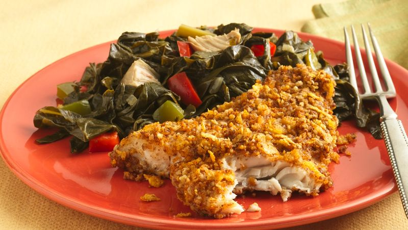 Pecan-Crusted Catfish (Makeover) recipe from Betty Crocker