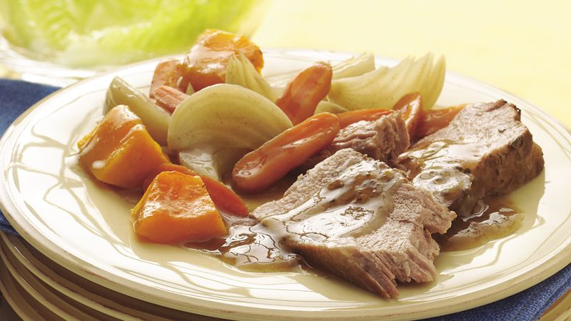 Slow-Cooker Maple-Sage Pork Roast