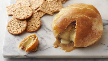 Crescent-Wrapped Baked Apple Brie