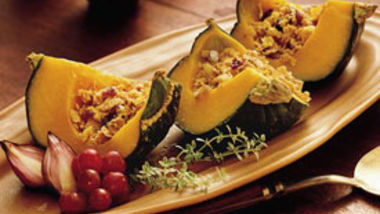 Nut- and Fruit-Filled Squash