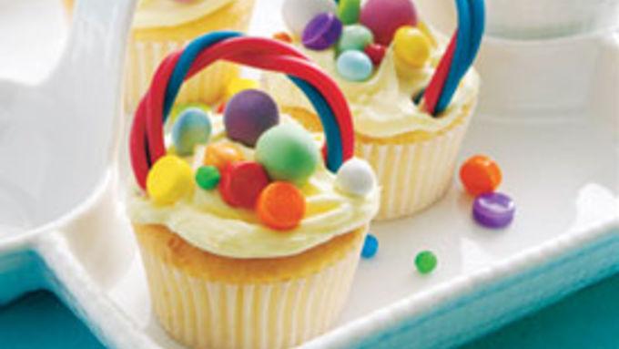 Spring Cupcake Baskets