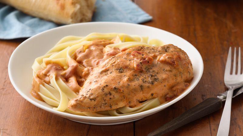 Creamy Tomato Slow-Cooker Chicken