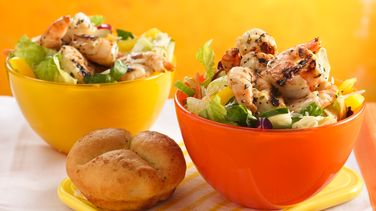 Grilled Zesty Herb Shrimp Salads