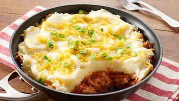 Barbecue Chicken and Cheesy Potato Skillet