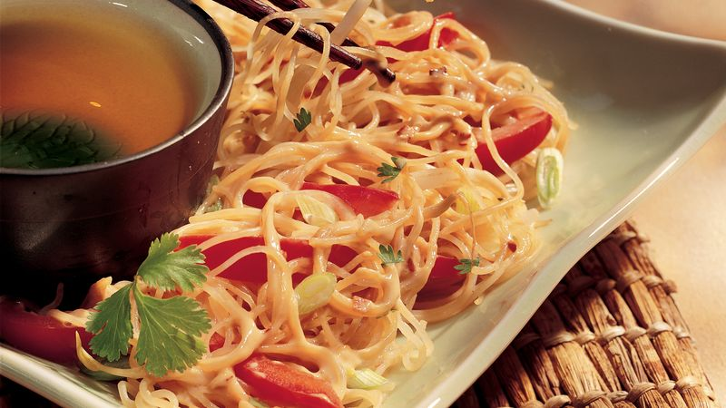 Rice Noodles with Peanut Sauce
