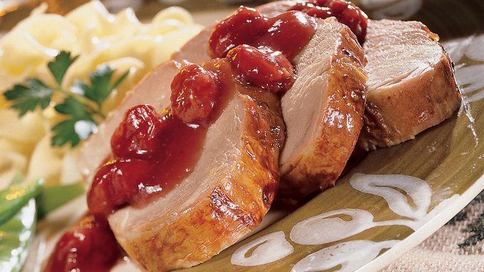 Cherry-Rhubarb Pork