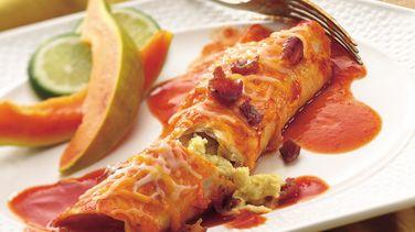 Bacon and Egg Enchiladas