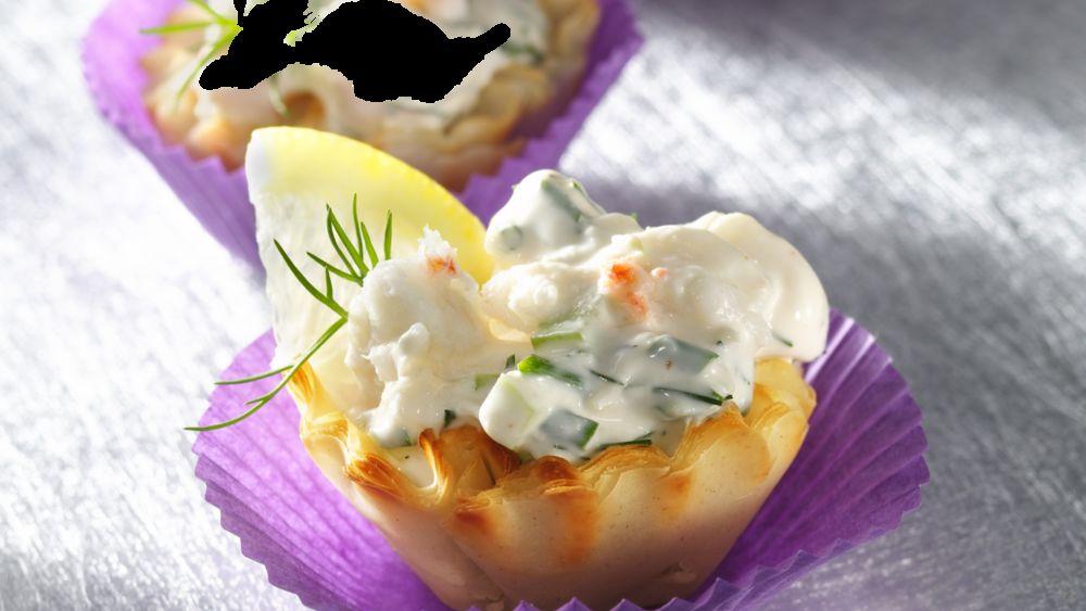 Festive Fillo Crab Cups