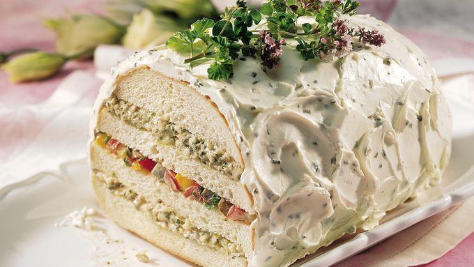 Pesto and Roasted-Vegetable Sandwich Loaf