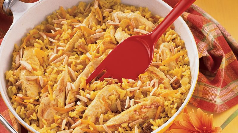 Golden Rice and Chicken Pilaf