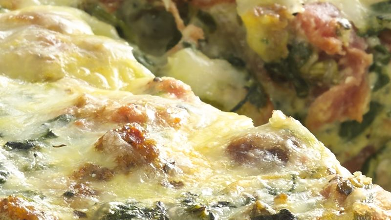 Sausage with Spinach and Cheese Torta