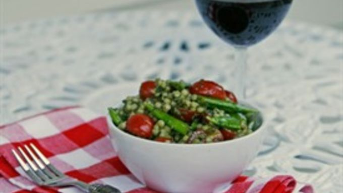 Pesto Pearl Couscous Salad