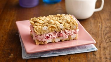 Strawberry-Marshmallow Crisp Ice Cream Sandwiches
