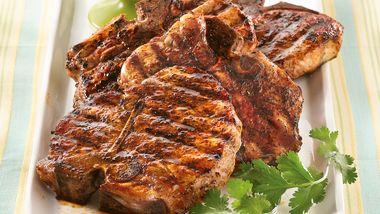 Southwestern Grilled Pork Chops with Peach Salsa