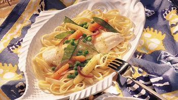 Haddock with Lemon Pepper Vegetables