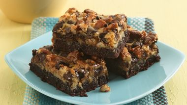 Six-Layer Brownie Bars