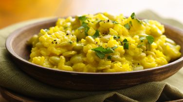 Golden Risotto with Lima Beans