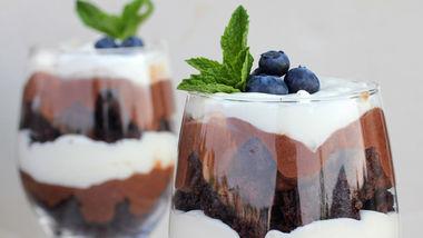 Triple-Chocolate Brownie Trifle