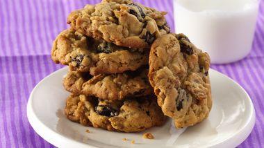 Peanut Butter-Raisin Bran Cookies