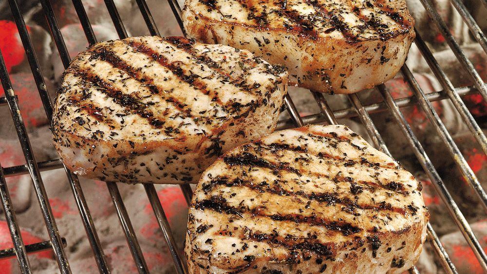 Herbed Boneless Pork Chops