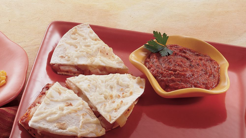 Canadian Bacon and Pineapple Quesadillas