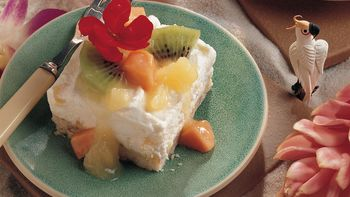 Creamy Tropical Dessert (lighter recipe)