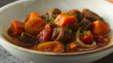 Slow-Cooker Colombian Beef and Sweet Potato Stew