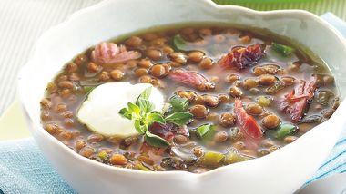 Slow-Cooker Smoked Turkey-Lentil Soup
