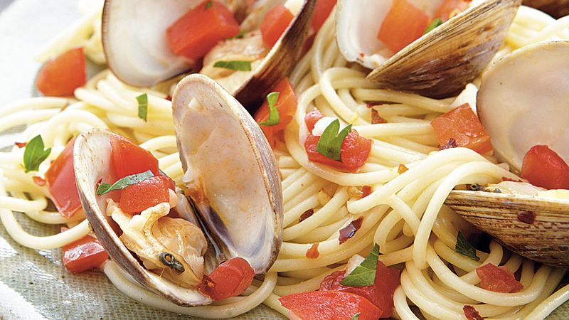 Spooky Spaghetti with Clams