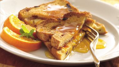 Stuffed French Toast Strata with Orange Syrup